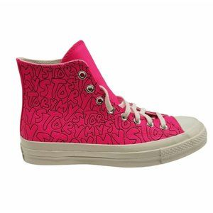 Converse Unisex Pink White High Top Size 9